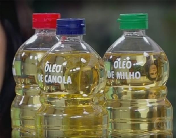 Qual é o melhor óleo para cozinhar? Pesquisadores de uma universidade britânica analisaram cinco tipos para determinar qual seria o mais saudável  (Foto: Reprodução/TV Globo)