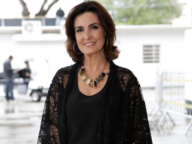 Fátima Bernardes integra o time de estrelas que grava o show especial (Foto: Fábio Rocha / Gshow)