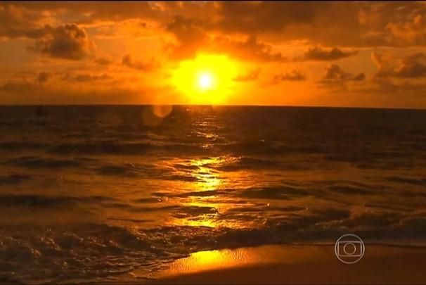 Amanhecer em joão pessoa (Foto: Reprodução/TV Globo)