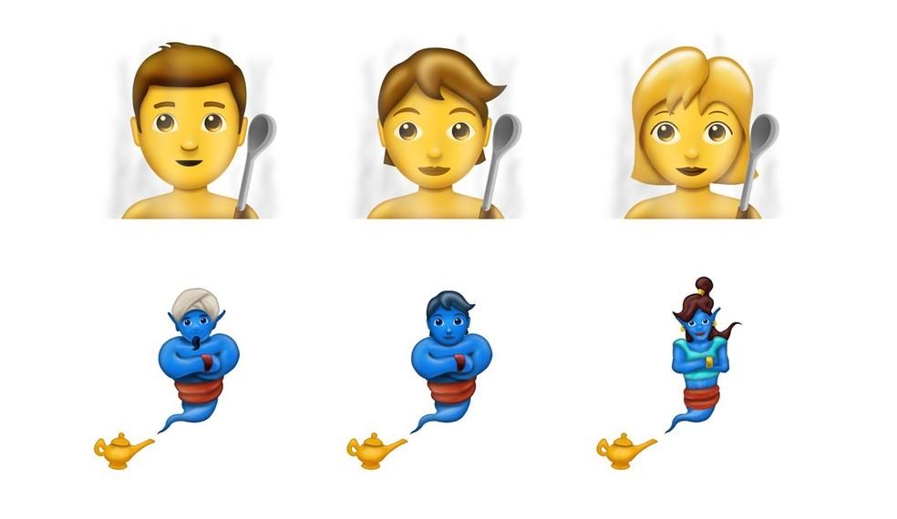 Novos emojis de pessoas e seres fantasiosos terão gêneros neutros (Foto: Reprodução/Emojipedia)