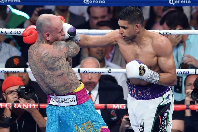 Amir Khan, Luiz Colazzo, boxe, MGM (Foto: Getty Images)