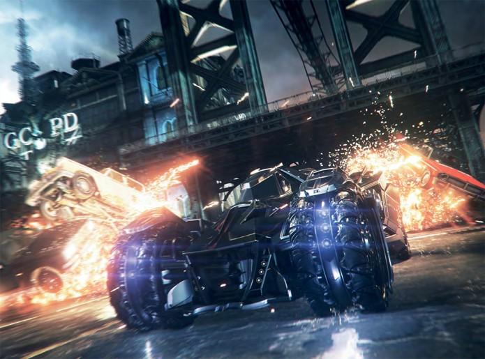 Batmóvel remove todos os obstáculos pelo caminho sem dificuldade (Foto: All Games Beta)