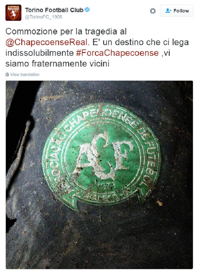 Torino Chapecoense (Foto: Reprodução)