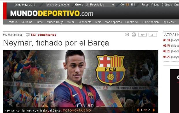 Neymar, Mundo Deportivo (Foto: Reprodução)