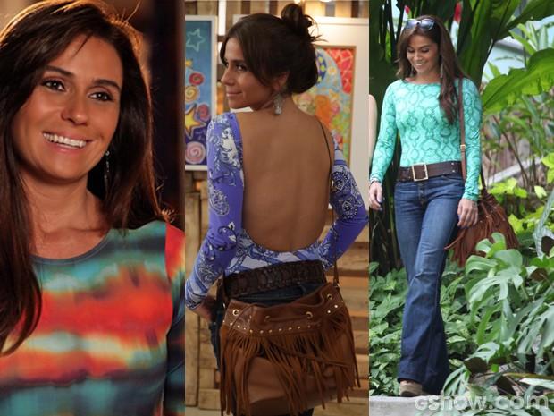 Os bodys estão com tudo nos looks de Clara  (Foto: Pedro Curi;Em Família/TVGlobo)
