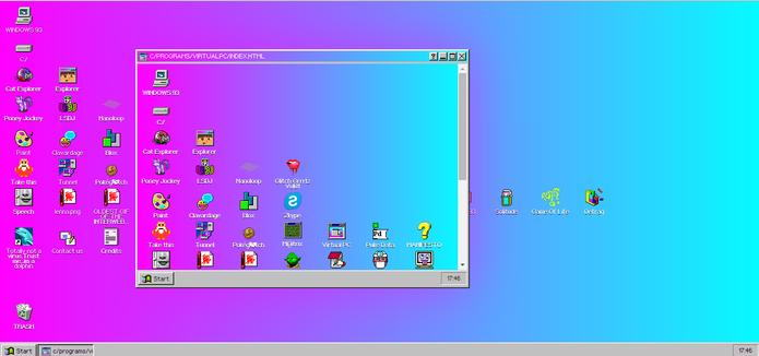 Virtual PC roda um Windows 93 dentro do próprio sistema de navegador (Foto: Reprodução/Elson de Souza)