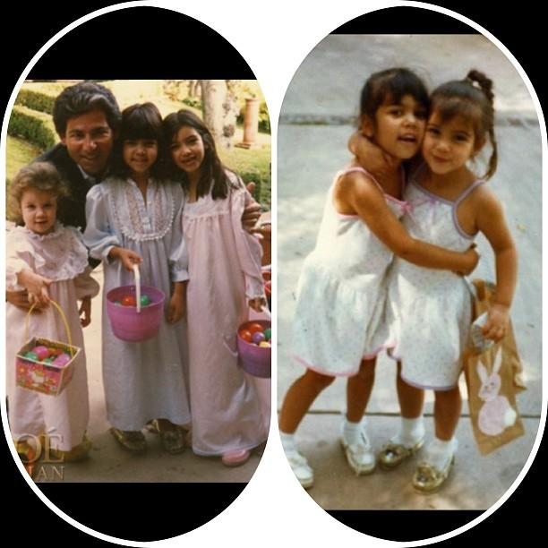 Kim Kardashian com a família em foto do baú (Foto: Instagram/ Reprodução)