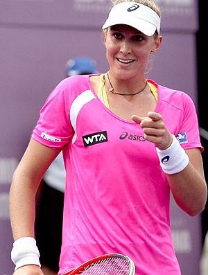 Beatriz Haddad na partida do WTA do Brasil de tênis (Foto: Cristiano Andujar / Foto Arena)