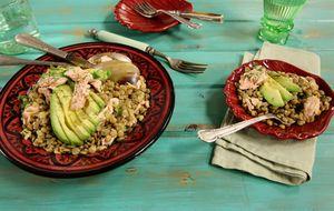 Salada de salmão com lentilha e abacate: receita da Rita Lobo