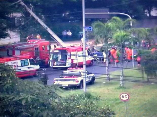 Acidente ocorreu na Zona Leste de Porto Alegre (Foto: Reprodução/EPTC)