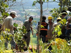 Corpo de jovem grávida é encontrado por preso fugitivo na Serra de Jaraguá, Goiás (Foto: Folha de Jaraguá)