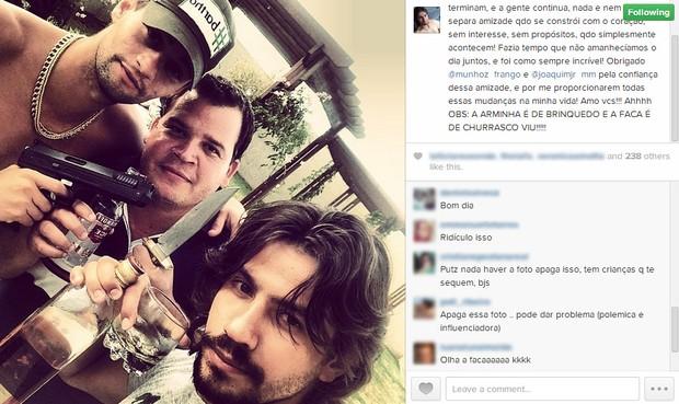Munhoz, Joaquim Junior - empresário da dupla - e Mariano  (Foto: Instagram/Reprodução)