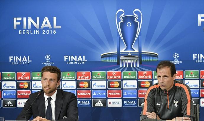 Massimiliano Allegri e Claudio Marchisio - Juventus (Foto: AP)