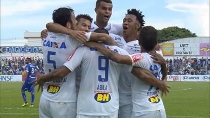 Confira os gols do empate entre URT 1 x 1 Cruzeiro, em Patos de Minas