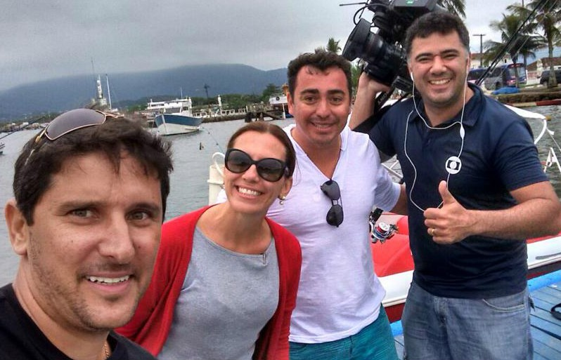 Rosana Valle e equipe do Rota do Sol (Foto: Arquivo Pessoal)