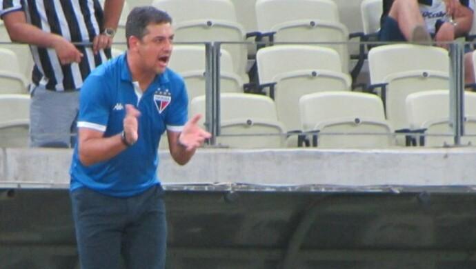 Marquinhos Santos, técnico do Fortaleza (Foto: Juscelino Filho)
