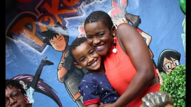 Angélica Ramos com o filho Vinícius   (Foto: Arquivo pessoal)
