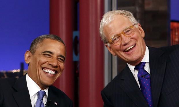 Obama falou sobre vídeo polêmico de Romney em sua sétima participação no programa de David Letterman (Foto: Kevin Lamarque / Reuters)