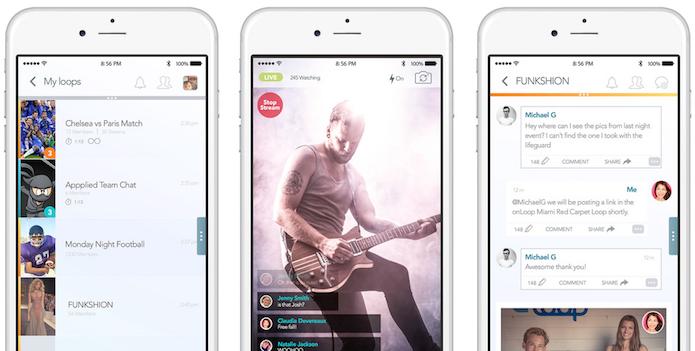 O onLoop permite fazer transmissão de eventos ao vivo (Foto: Divulgação/AppStore)