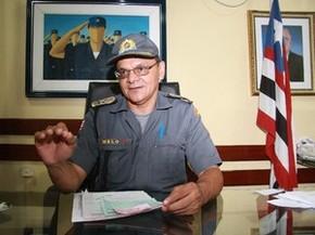 Coronel Melo, em 2009, quando era comandante da PM no MA (Foto: Flora Dolores/O Estado)