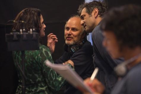 Luiz Villaça dirige Denise Fraga e Domingos Montagner  (Foto: Eduardo Martino)