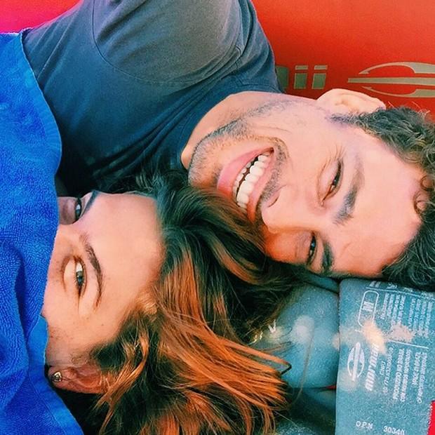 Mariana e Cauã Reymond (Foto: Reprodução)