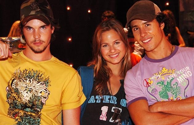 Gabriel Wainer, Luiza Valdetaro e Bernardo Mello Barreto fizeram um triângulo amoroso em 2006 (Foto: Márcio de Souza/TV Globo)