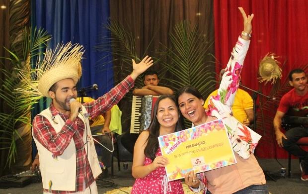 Convidados ganharam prêmios (Foto: Katiúscia Monteiro/ Rede Amazônica)