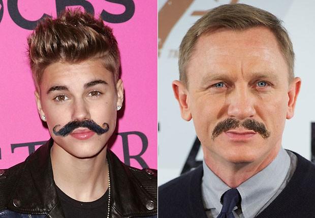 Justin Bieber e Daniel Craig (Foto: Reprodução)