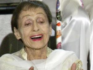 A atriz Luise Rainer em foto de março de 2003; atriz morreu aos 104 anos (Foto: Reuters)