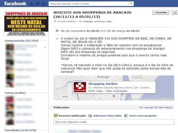 Quase 24 mil pessoas já confirmaram presença no evento que propõe o boicote (Foto: Reprodução/Facebook)