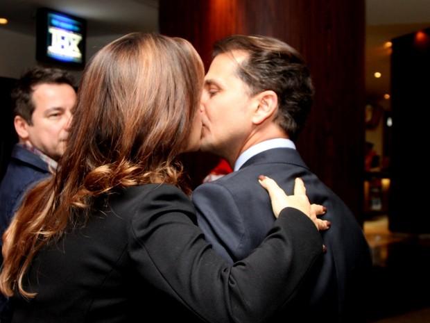 Guilhermina Guinle e o marido, Leonardo Antonelli, em pré-estreia de filme no Rio (Foto: Claudio Andrade/ Foto Rio News)