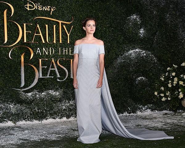 O vestido Emilia Wickstead feito de tecido reaproveitado (Foto: Getty Images)