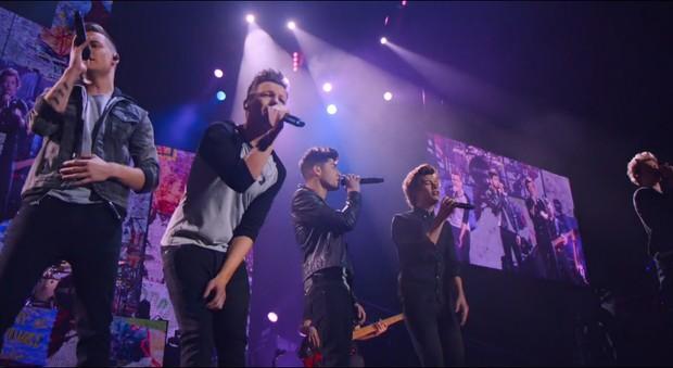 Cena do filme da banda One Direction (Foto: Reprodução)