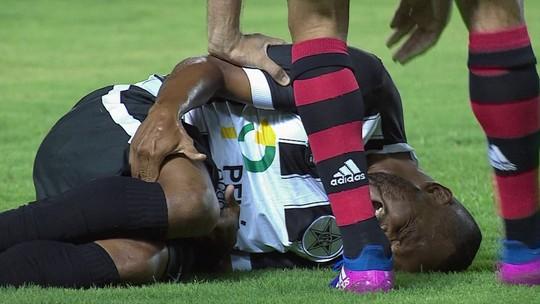 Grave lesão no joelho direito tira meia Rogerinho do Resende por seis meses