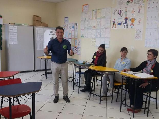 Darci de Matos (PSD) Joinville (Foto: Rejane Gambin/RBS TV)