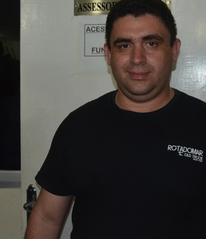 Júnior Verissímo, presidente do Santa Cruz de Santa Rita (Foto: Larissa Keren / GloboEsporte.com)