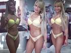Geisy Arruda experimenta lingerie com direito a 'mão boba' em selfie