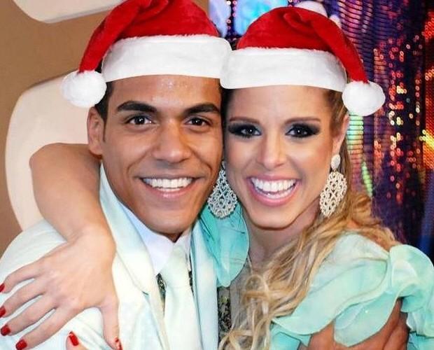 Marcello Melo Jr e Raquel Guarini se reencontram para comemorar natal (Foto: Arquivo Pessoal)