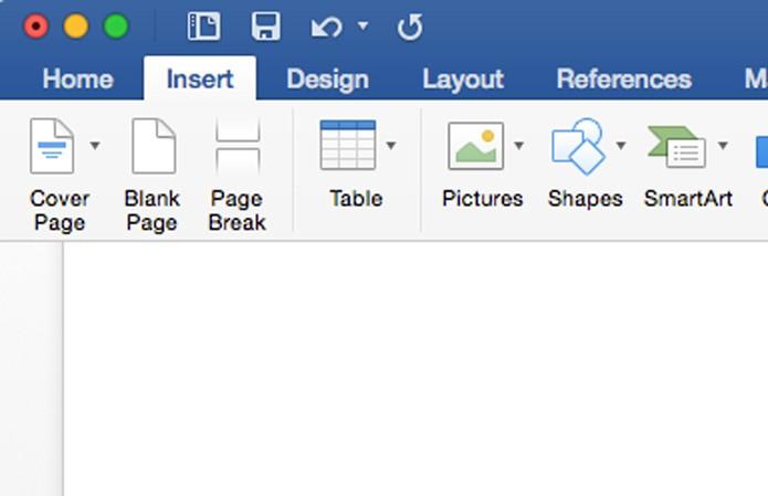 Clique em Insert e depois em Blank Page (Foto: Reprodução/André Sugai)