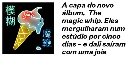 Capa do novo disco da banda Blur, The magic whip  (Foto: Divulgação)