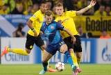 Borusia Dourtmund x Arsenal - Immobile disputa jogada