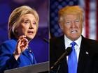 Hillary e Trump aparecem empatados em nova pesquisa