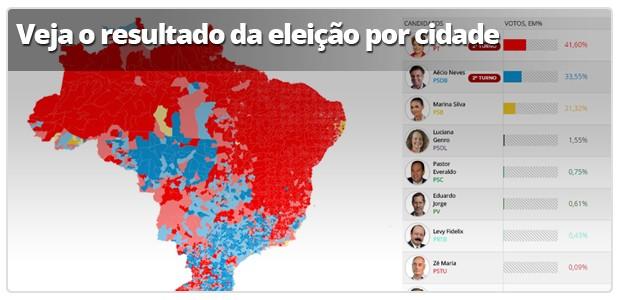 Infográfico: Votação por cidade (Foto: Arte G1)