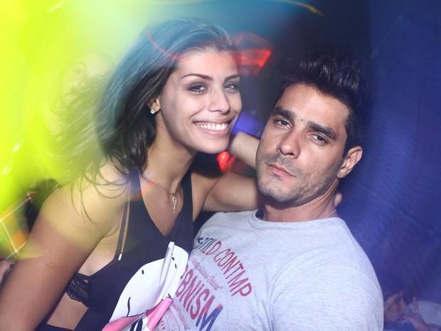 Ex-BBBs Fraciele e Diego em festa no Rio (Foto: Raphael Mesquita/ Divulgação)