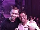 Ronaldo Fenômeno curte balada com Calvin Harris em Ibiza