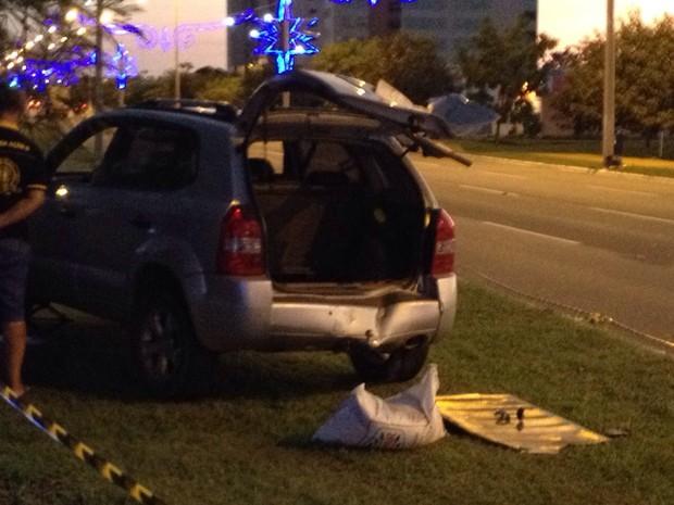 Acidente que causou morte de empresário aconteceu na Avenida Theotônio Segurado, em Palmas (Foto: Alexandre Alves/TV Anhanguera)