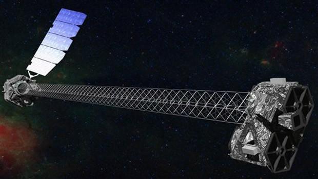 Imagem do telescópio NuSTAR fornecida pela Nasa (Foto: Nasa)