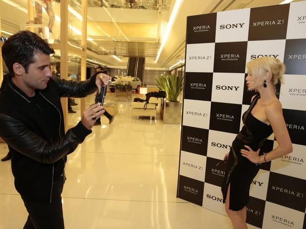 Bruno Gagliasso e Mariana Ximenes em evento em São Paulo (Foto: Felipe Panfili/ Ag. News)