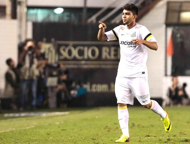 Gabriel Comemora gol do Santos contra o Grêmio (Foto: Miguel Schincariol / Agência estado)